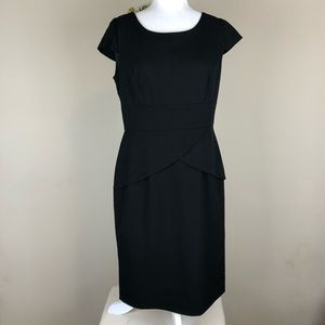 CALVIN KLEIN | Little Black Dress Sheath Peplum 8